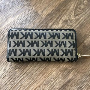 Michael Kors Bags - MK Wallet Black and Gold